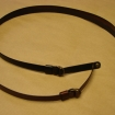 leather ribbon / metal buckle
