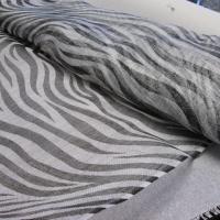 1M sinamay tijger zwart/wit