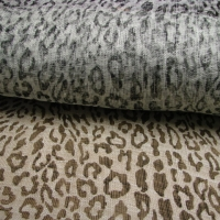 1M tissu sisal léopard noir/blanc